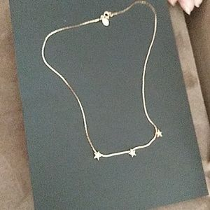 Avon rising star necklace gold tone old tone 17 in